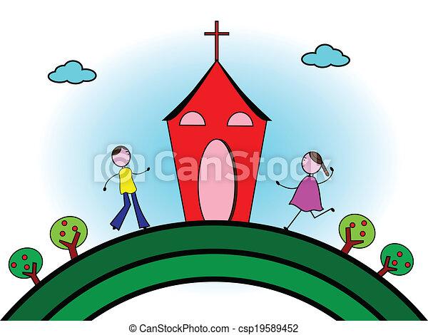 haladó, templom - csp19589452