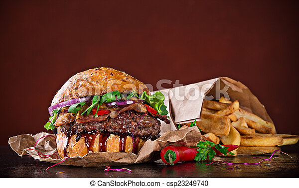 hamburger, finom - csp23249740
