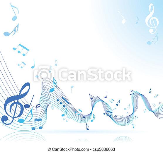 hangjegy, zene - csp5836063