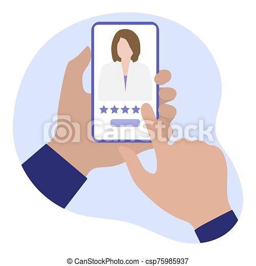 healthcare, orvosi, online, szolgáltatás, értékelés, orvos - csp75985937