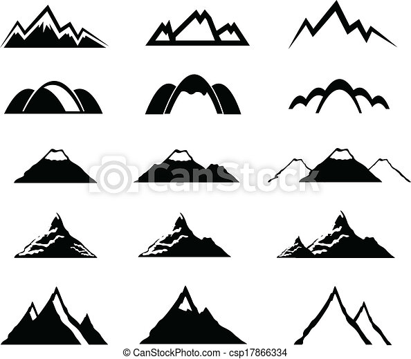 hegy, állhatatos, ikonok - csp17866334