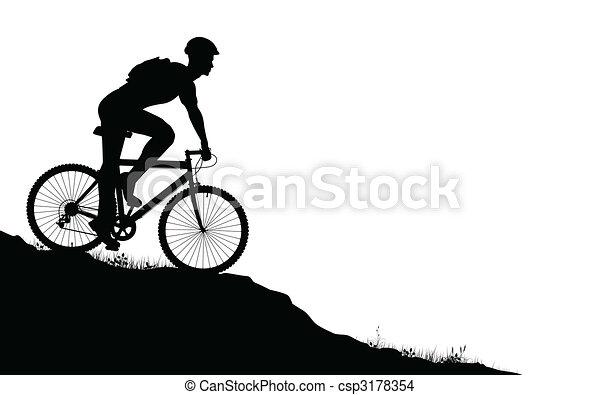 hegy biker - csp3178354