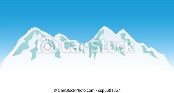 hegy csúcs, havas - csp5681857