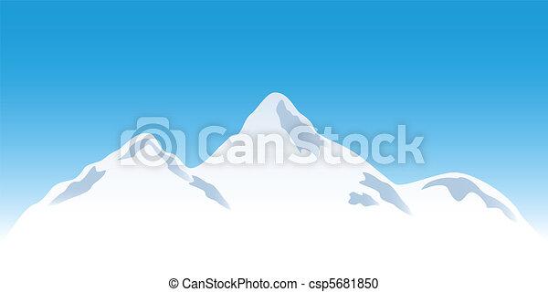 hegy csúcs, havas - csp5681850