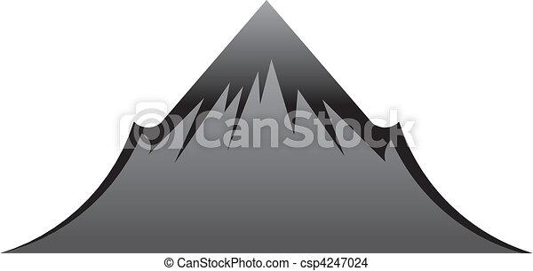 hegy, fekete - csp4247024