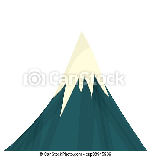 hegy, havas, ikon - csp38945909