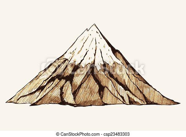 hegy, havas - csp23483303