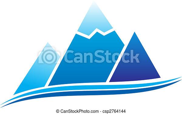 hegy, ikon - csp2764144