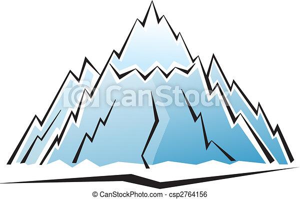 hegy, ikon - csp2764156