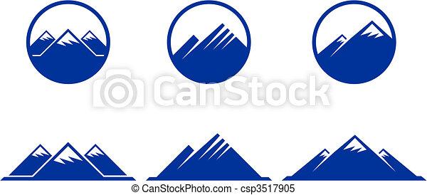 hegy, ikonok - csp3517905