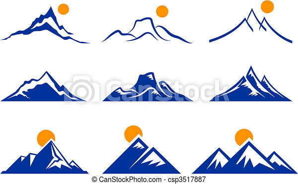 hegy, ikonok - csp3517887