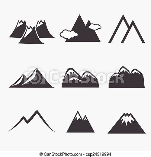 hegy, ikonok - csp24319994