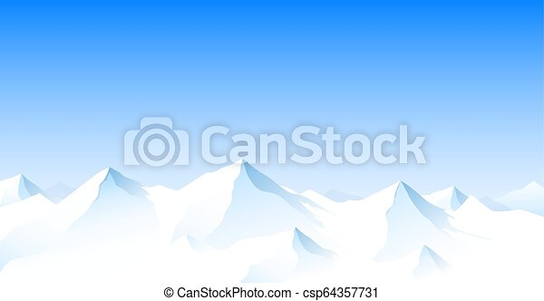 hegy parkosít, csúcs, havas - csp64357731