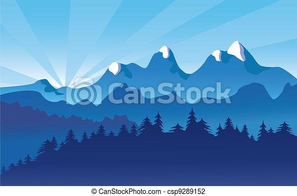 hegy parkosít, hó, alpesi növény - csp9289152