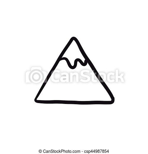 hegy, skicc, icon. - csp44987854