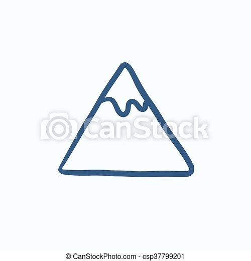 hegy, skicc, icon. - csp37799201