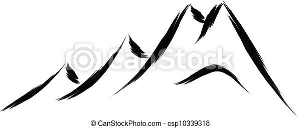 hegy, skicc - csp10339318