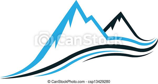 hegy, swoosh - csp13429280