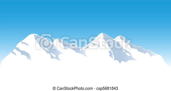 hegy tető, havas - csp5681843