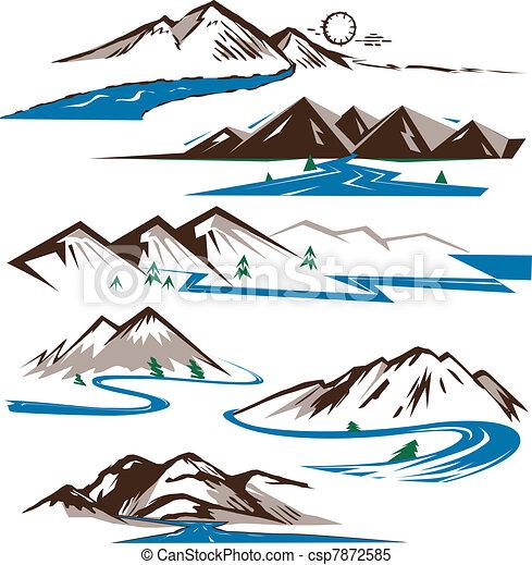 hegyek, folyók - csp7872585