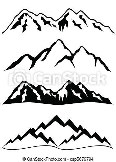 hegyek, hó - csp5679794