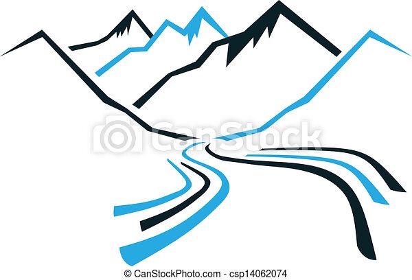 hegyek, völgy - csp14062074