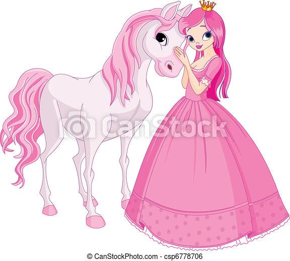 hercegnő, ló, gyönyörű - csp6778706