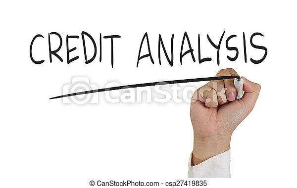 hitel, analízis - csp27419835