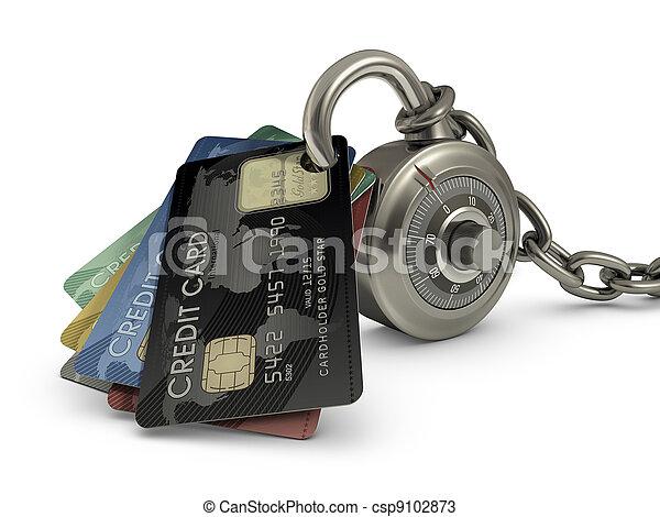 hitel, biztonság, kártya - csp9102873