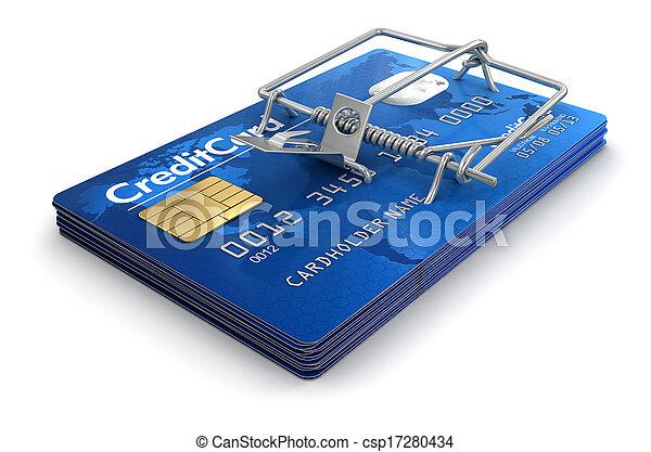 hitel, egérfogó, kártya - csp17280434