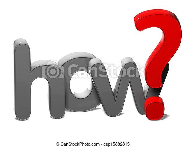 hogyan, kérdez, háttér, 3, szó, fehér - csp15882815
