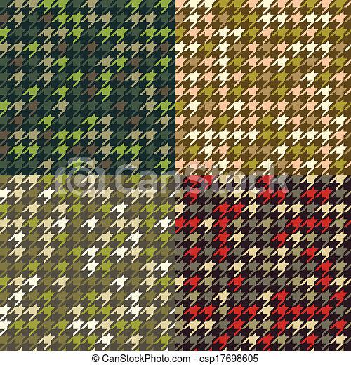 houndstooth, állhatatos, patterns., álcáz - csp17698605