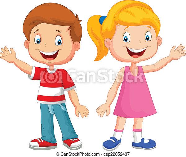 hullámzás, csinos, gyerekek, kéz - csp22052437