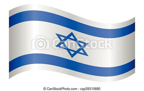 hullámzás, izrael, white lobogó, háttér - csp39310680