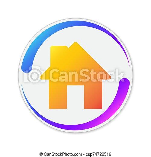 icon., színes, épület, vektor - csp74722516