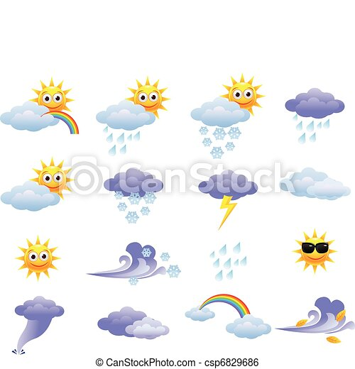 időjárás, ikon - csp6829686