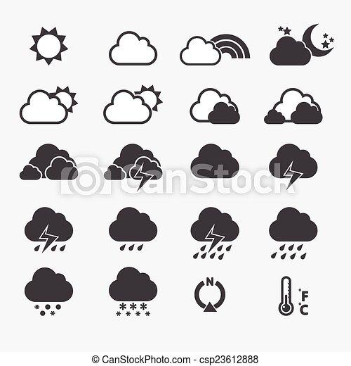 időjárás, ikon - csp23612888