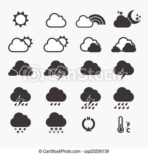időjárás, ikon - csp23256139