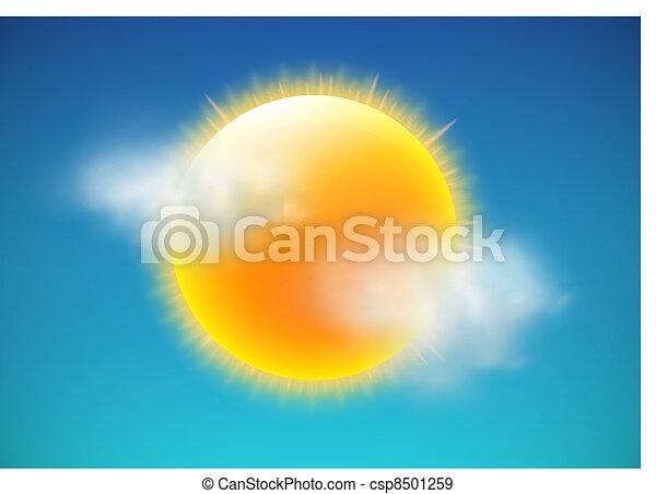 időjárás, ikon - csp8501259