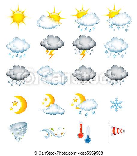 időjárás, ikonok - csp5359508
