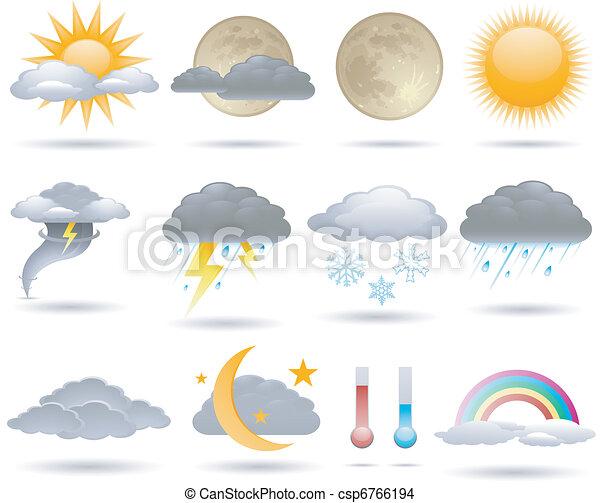 időjárás, ikonok - csp6766194