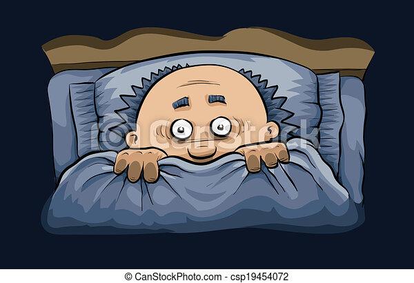 ijedős, ágy, éjszaka - csp19454072