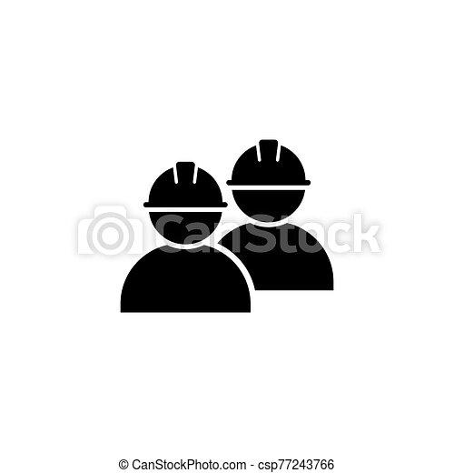 ikon, egyszerű, tervezés, munkás, jelkép - csp77243766