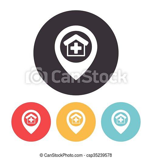 ikon, elhelyezés - csp35239578