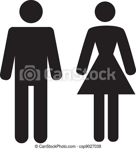 ikon, fehér, nő, háttér, ember - csp9027038