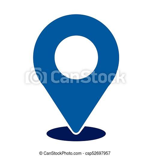 ikon, gombostű, elhelyezés - csp52697957