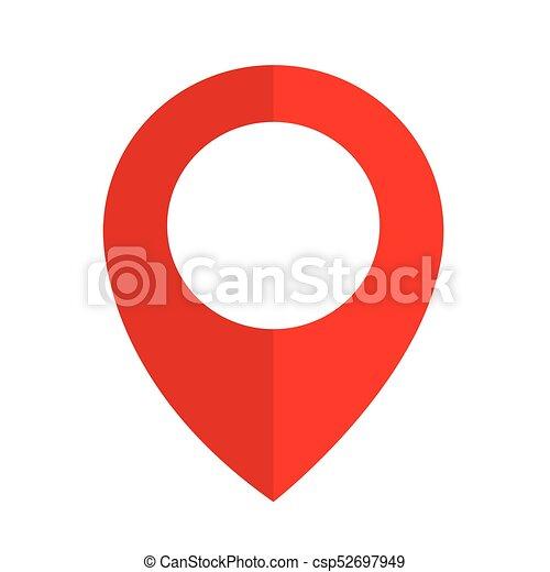 ikon, gombostű, elhelyezés - csp52697949