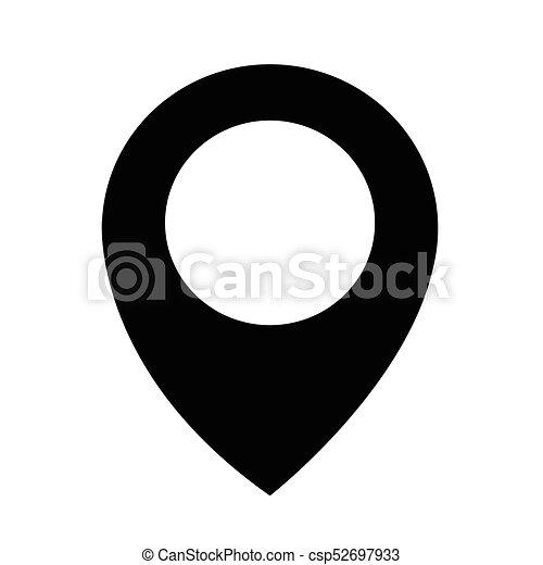 ikon, gombostű, elhelyezés - csp52697933