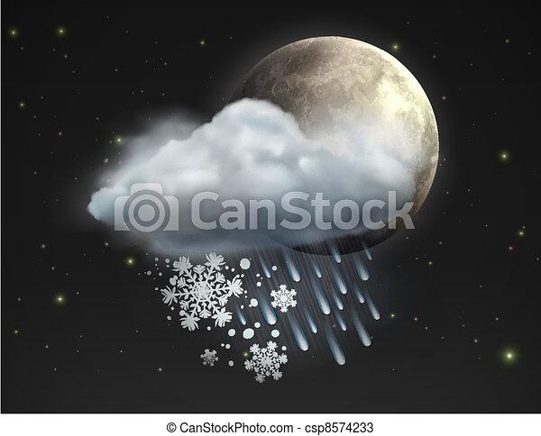 ikon, időjárás - csp8574233