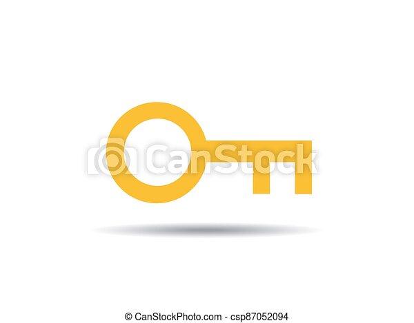 ikon, kulcs, ábra, vektor - csp87052094